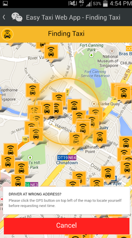Easy Taxi Request Screenshot