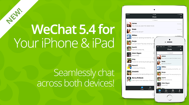 New WeChat 5 4 for iOS Available Now | WeChat Blog: Chatterbox