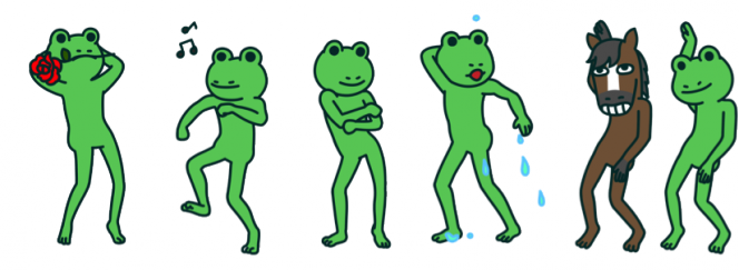 Frog and Horse WeChat Stickers