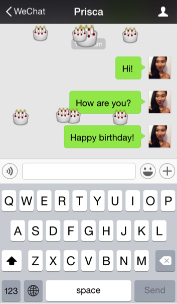 Birthday Falling Emoticons