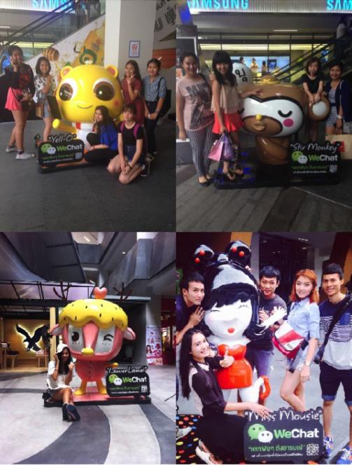 Thailand WeChat Sticker Statues