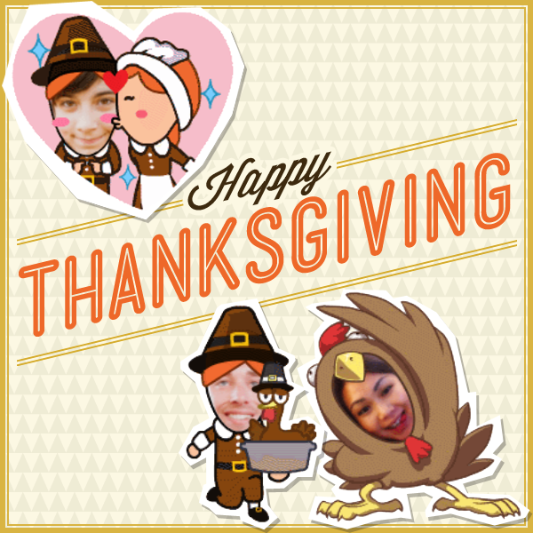Thanksgiving-WeChat-MojiMe-Custom