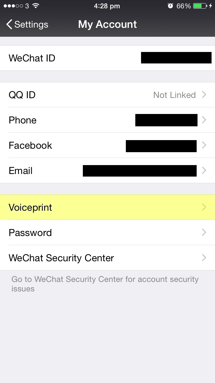 Voiceprint: The New WeChat Password | WeChat Blog: Chatterbox