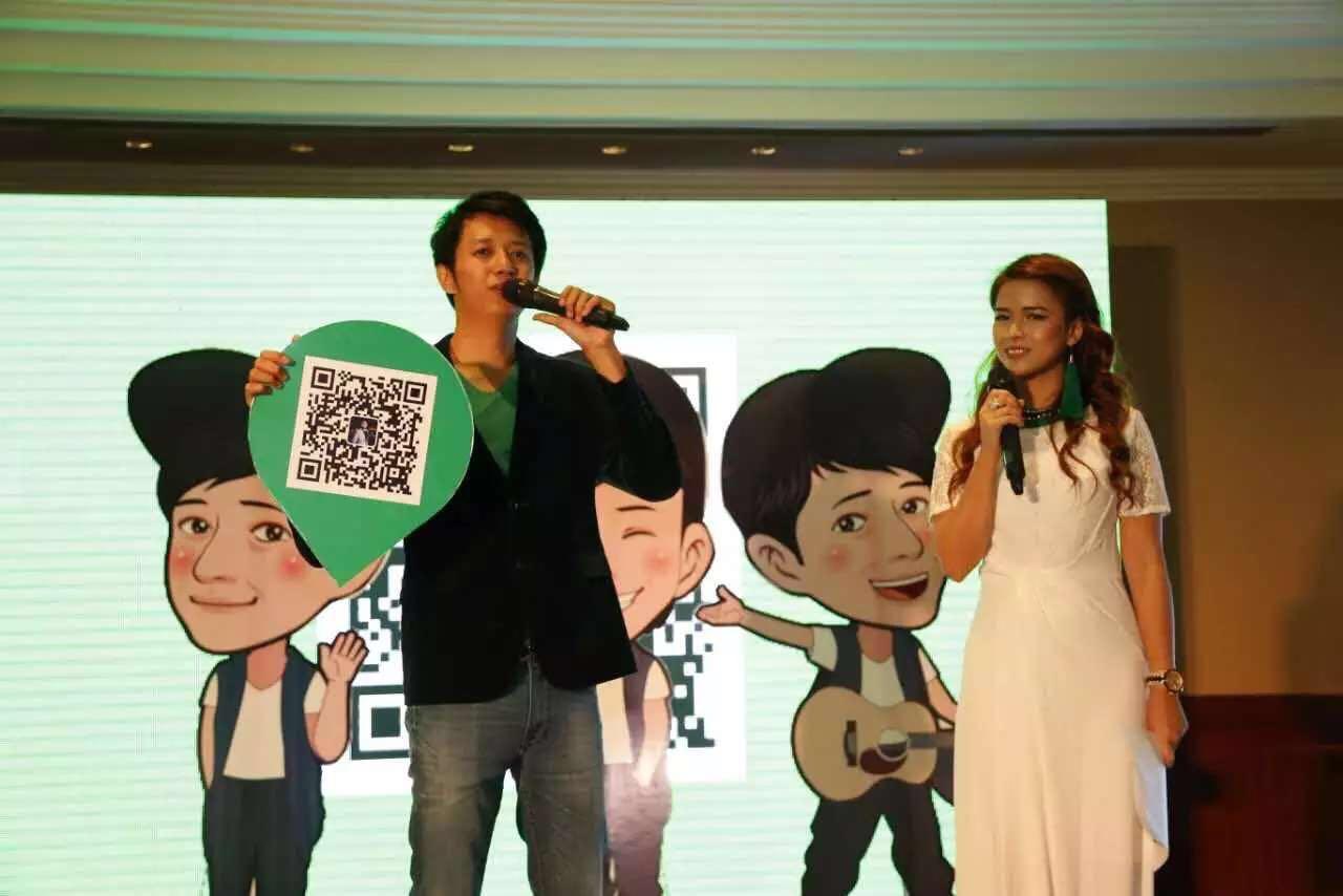 Sai Sai and Ariel Kuta WeChat Myanmar Launch Event