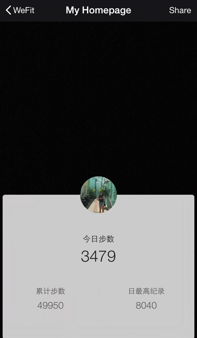 WeChat WeRun Me Page