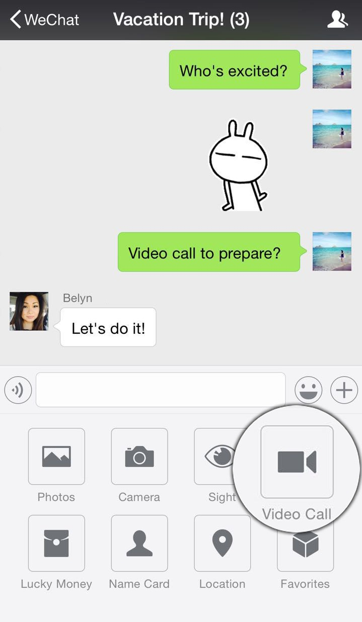 Video Call From Group Chat