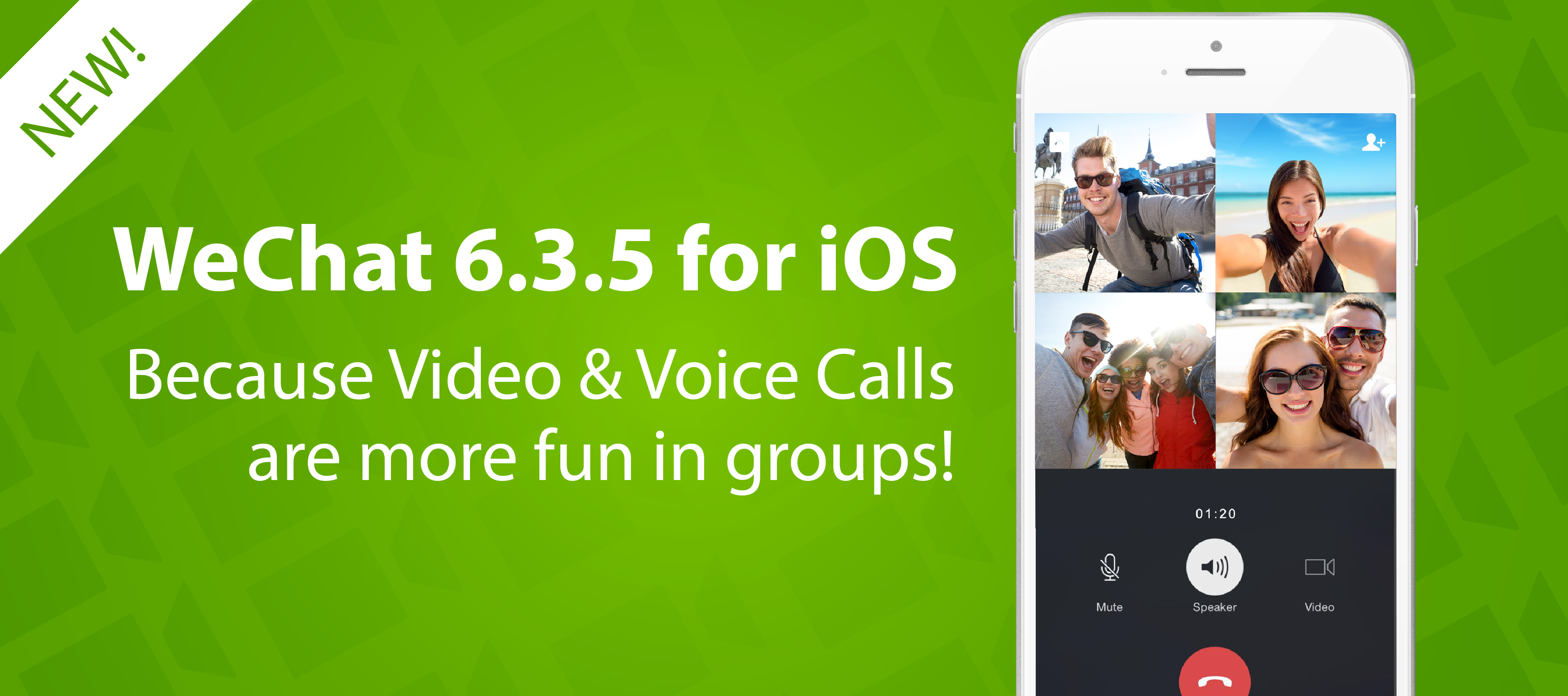 WeChat Banner_Video and Voice Call for Groups