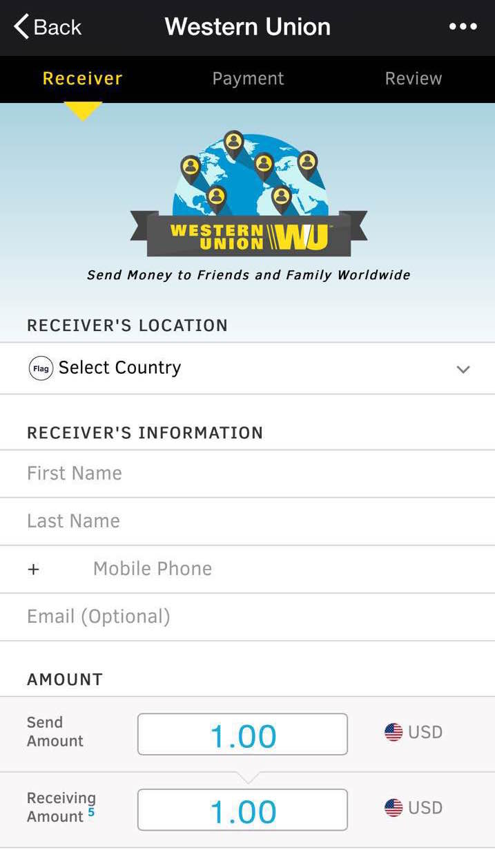 WeChat Western Union Receiver